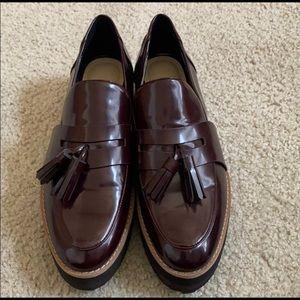 Zara Faux leather platform shoe.
